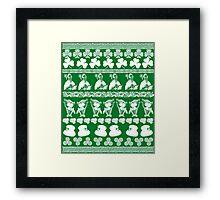 Ugly Irish Sweater for St Patricks Day Framed Print