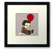 John and the red balloon  Framed Print