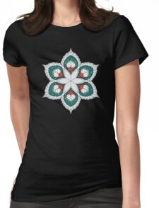 White Hearts Womens Fitted T-Shirt