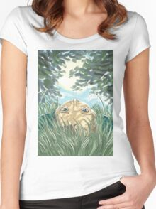 lying in the grass Women's Fitted Scoop T-Shirt