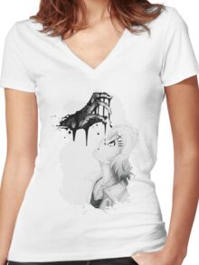 Tokyo Ghoul Women's Fitted V-Neck T-Shirt