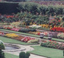 Colorful British Garden, United Kingdom Sticker