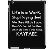 Kayfabe - Biz Terms iPad Case/Skin