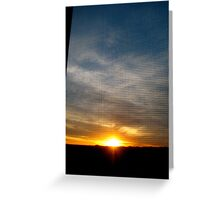 8th Floor Sunset Greeting Card