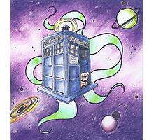 Dr Who- Tardis and French Bulldog Photographic Print