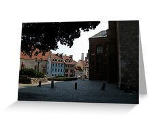 Riga Street Scene Greeting Card