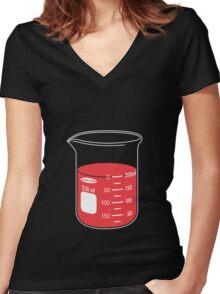 beaker elixir (strawberry) Women's Fitted V-Neck T-Shirt