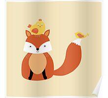 Fox - New Friends -  Illustration Poster