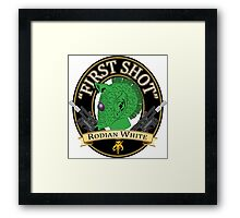 First Shot Rodian White Ale Framed Print