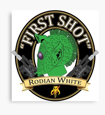 First Shot Rodian White Ale Canvas Print