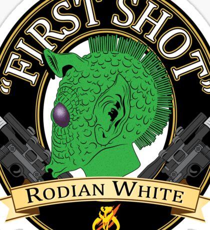 First Shot Rodian White Ale Sticker
