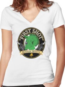 First Shot Rodian White Ale Women's Fitted V-Neck T-Shirt