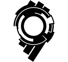 Ghost in the Shell - Public Security Section 9 Logo (Black Logo) Photographic Print