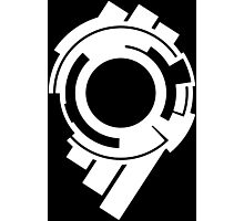 Ghost in the Shell - Public Security Section 9 Logo (White Logo) Photographic Print