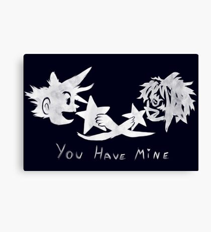 "Sora and Kairi - ""You Have Mine"" Canvas Print"