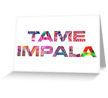 Tame Impala Lonerism Font Greeting Card