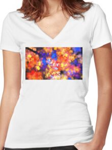 Flowering Branches Women's Fitted V-Neck T-Shirt