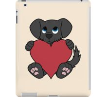 Valentine's Day Black Dog with Red Heart iPad Case/Skin