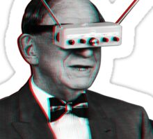 Old Man Tv Glasses (3D vintage effect) Sticker