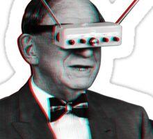 Old Man Tv Glasses (3D vintage effect) Sticker