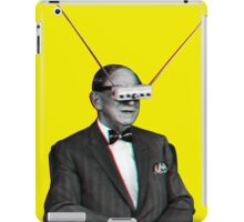 Old Man Tv Glasses (3D vintage effect) iPad Case/Skin