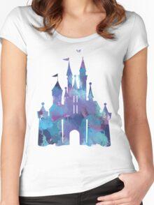 Splatter Paint Castle Women's Fitted Scoop T-Shirt