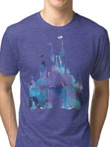 Splatter Paint Castle Tri-blend T-Shirt