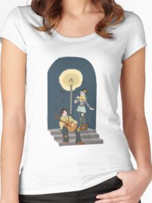 serenading clowns Women's Fitted Scoop T-Shirt
