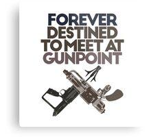 Meet at Gunpoint Metal Print