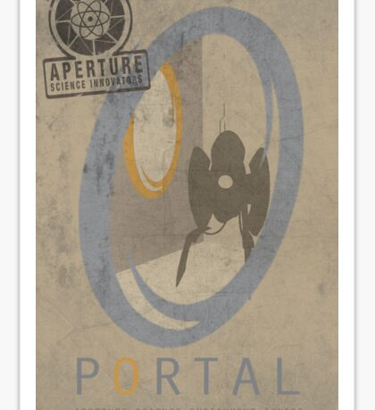 Portal Game Poster Sticker