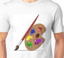 Brush, Palette colour Unisex T-Shirt