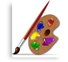 Brush, Palette colour Canvas Print