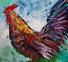 Rooster Painting Down on the Farm by Gray Artus