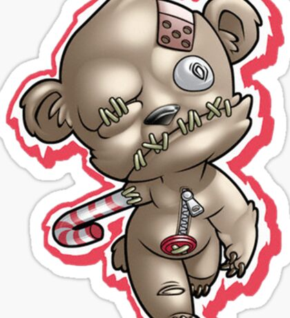 scary doll Sticker