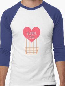 Global Love  Men's Baseball ¾ T-Shirt