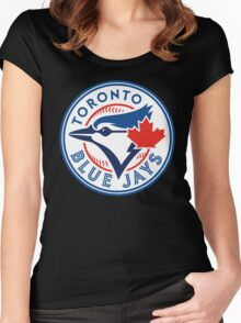 Toronto Blue Jays-Baseball Women's Fitted Scoop T-Shirt