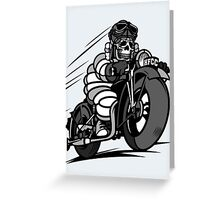bikers skull Greeting Card
