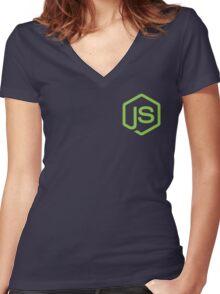 Node.Js Fan Women's Fitted V-Neck T-Shirt