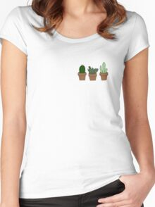 Cute cacti Women's Fitted Scoop T-Shirt