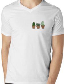 Cute cacti Mens V-Neck T-Shirt