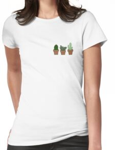 Cute cacti Womens Fitted T-Shirt
