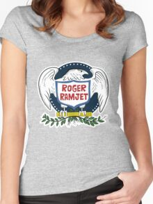 Roger Ramjet Bald Eagle Women's Fitted Scoop T-Shirt
