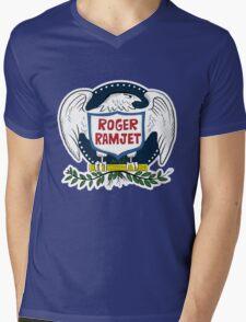 Roger Ramjet Bald Eagle Mens V-Neck T-Shirt