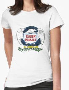 Roger Ramjet Bald Eagle Womens Fitted T-Shirt