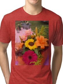Flowers and bubbles  Tri-blend T-Shirt