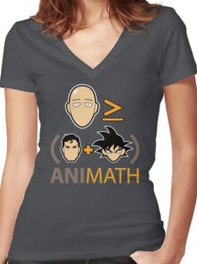 AniMath Women's Fitted V-Neck T-Shirt