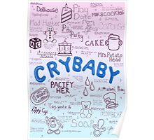 Cry Baby Original Drawing Poster