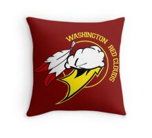 Washington Red Clouds Throw Pillow