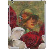 Vintage Woman Roses Oil Texture iPad Case/Skin