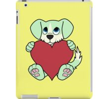 Valentine's Day Green Dog with Blaze & Red Heart iPad Case/Skin